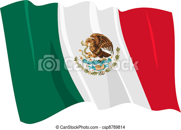 flag of Mexico - csp8789814