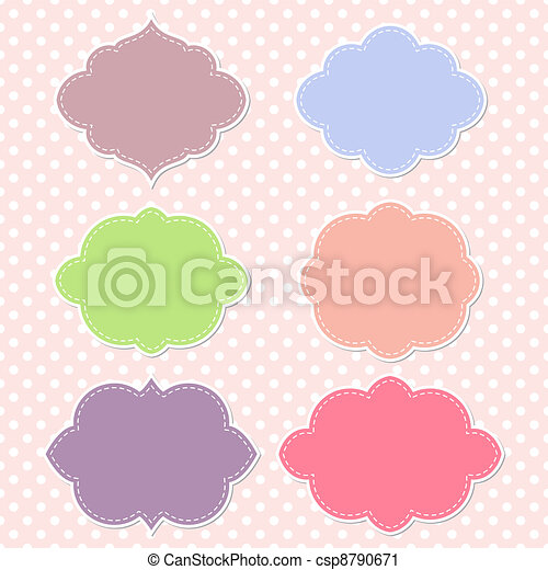 Frames, vector scrapbook collection - csp8790671