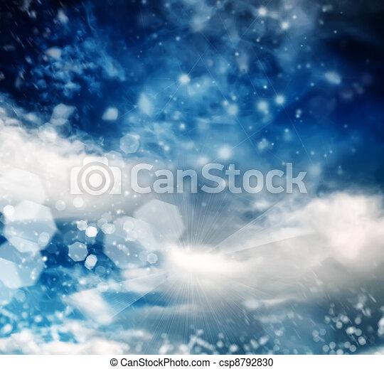 brilliant winter sky - csp8792830