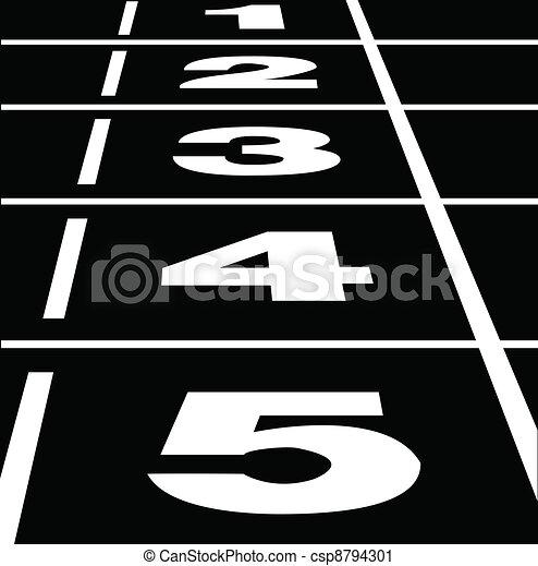 Running track black - csp8794301