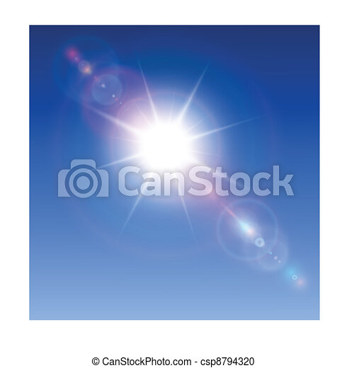 Sun with lens flare - csp8794320