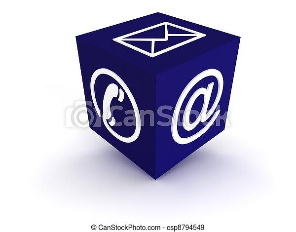 青, コミュニケーション, 立方体 - csp8794549