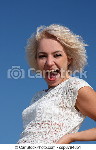 Laughing young woman - csp8794851