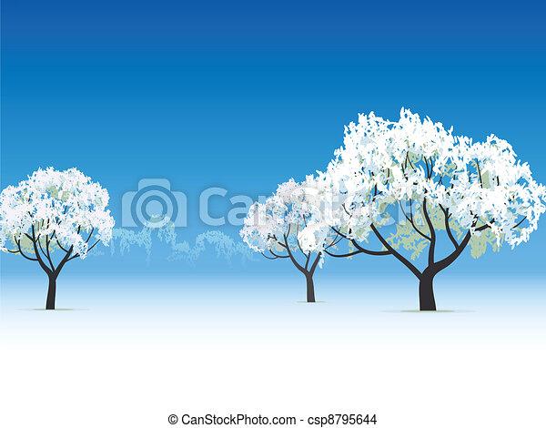 frozen tree snow covered - csp8795644