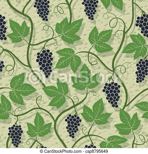 Grape seamless pattern - csp8795649