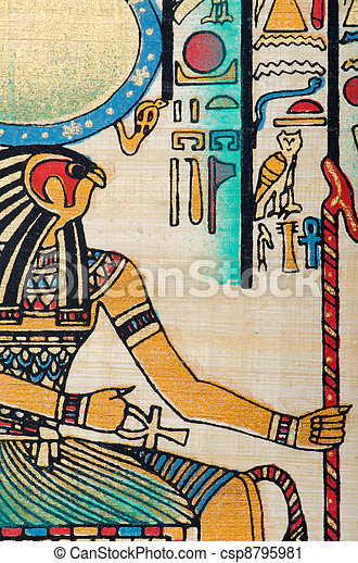 Egyptian history concept with papyrus - csp8795981