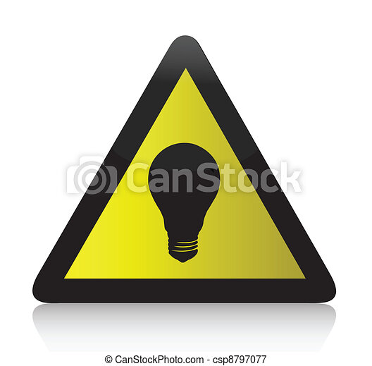 idea lightbulb yellow illustration  - csp8797077