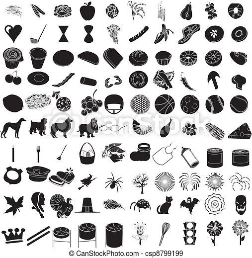 100 Icon Set 3 - csp8799199