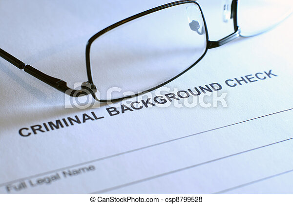 Criminal background check - csp8799528