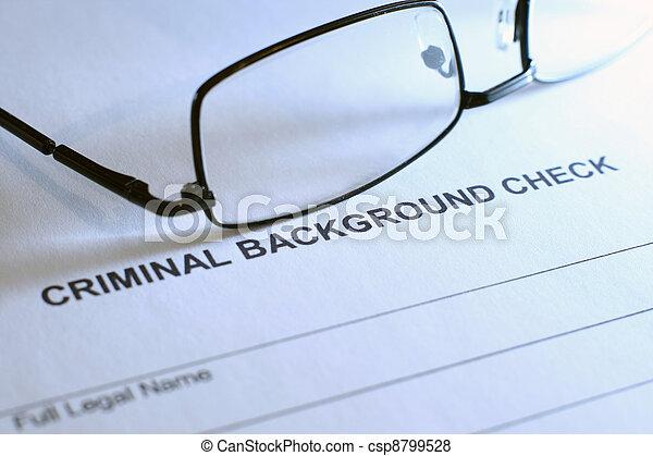 Criminal background check - csp8799528