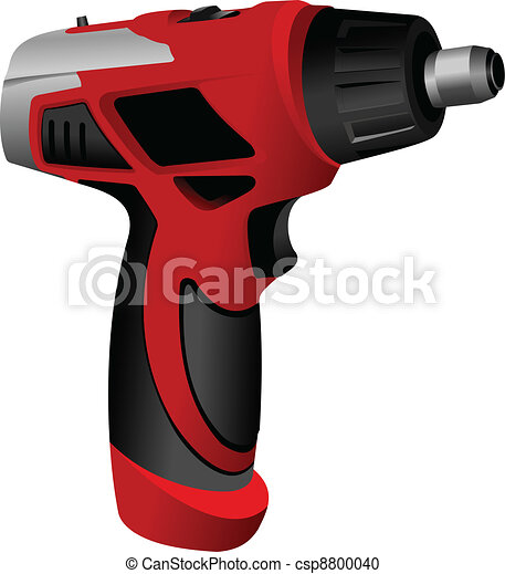 Power drill isolated on a white ba - csp8800040