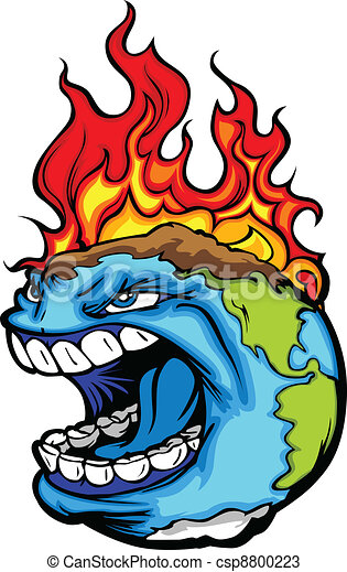Global Warming Planet Earth Vector - csp8800223