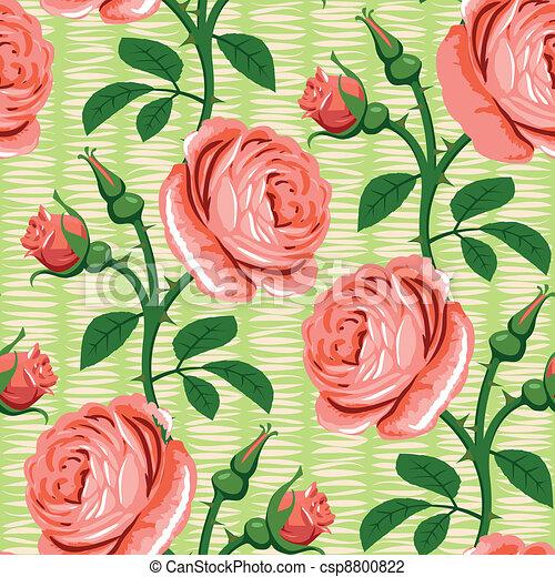 seamless rose pink background - csp8800822