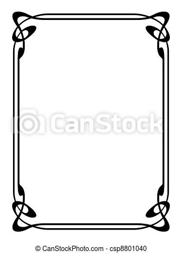 art nouveau ornamental decorative frame - csp8801040