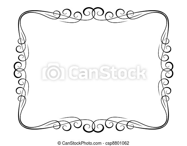 calligraphy ornamental decorative frame - csp8801062