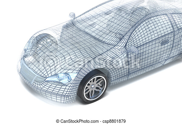 Car design, wire model - csp8801879