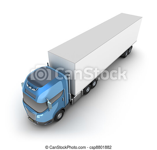 Modern truck with cargo container - csp8801882