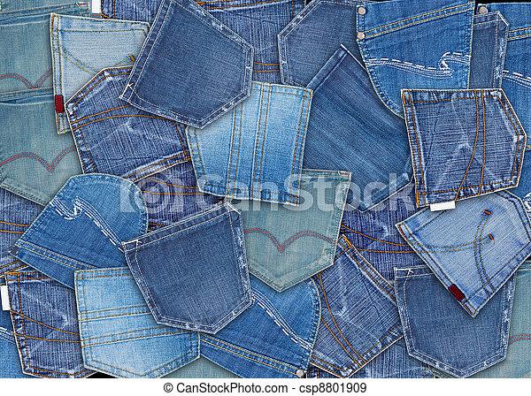 blue jeans pocket  - csp8801909