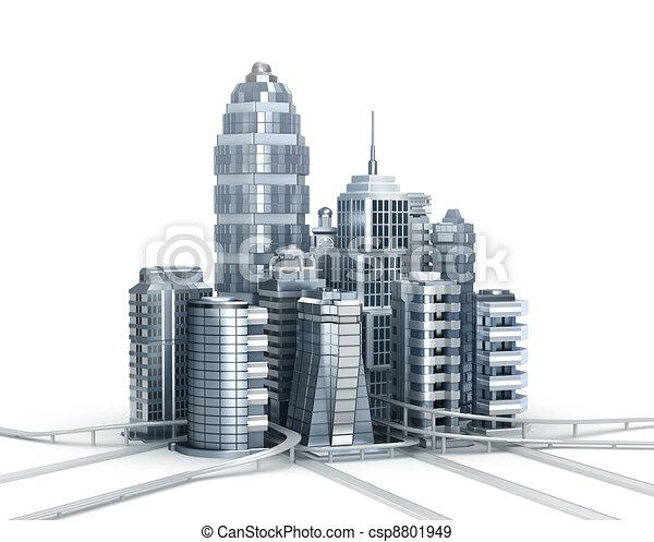 Skyscrapers and magistrals - csp8801949
