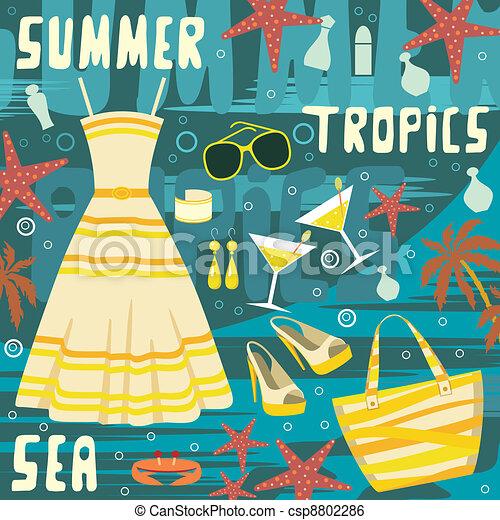 Fashion set summer clothes - csp8802286