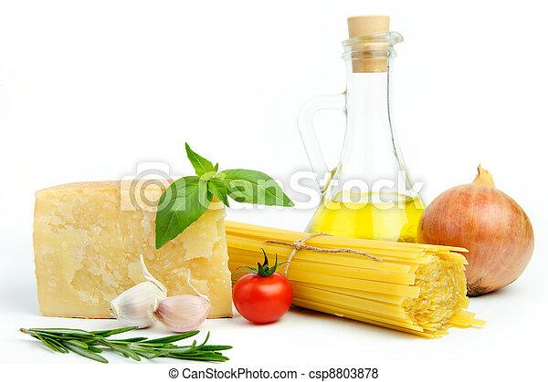Ingredients for Italian pasta - csp8803878