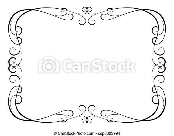 calligraphy ornamental decorative frame - csp8803994