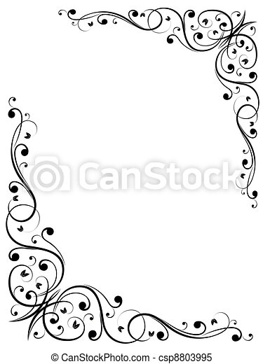 simple abstract floral B - csp8803995