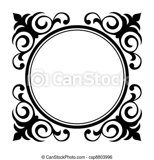 circle ornamental decorative frame - csp8803996