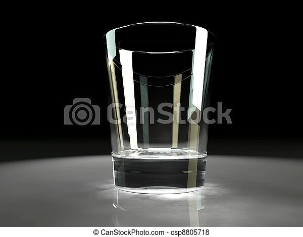 empty glass with refractive caustic effects - csp8805718