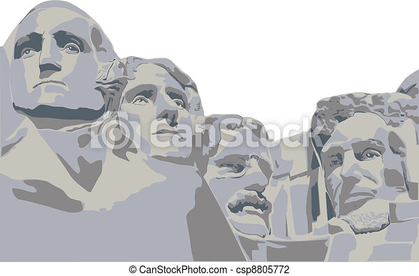 four presidents Mount Rushmore - csp8805772