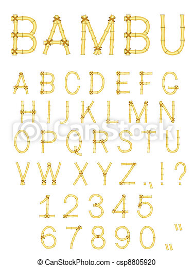 vector bamboo stick abc alphabet - csp8805920