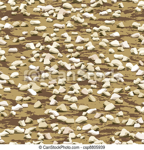 gravel on earth ground seamless texture - csp8805939