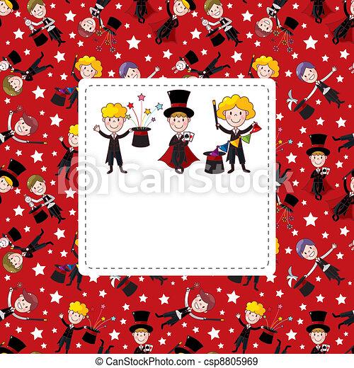 magician card - csp8805969