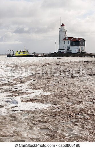 Lighthouse in Dutch Marken - csp8806190