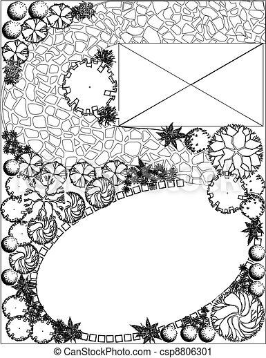 Plan of garden - csp8806301