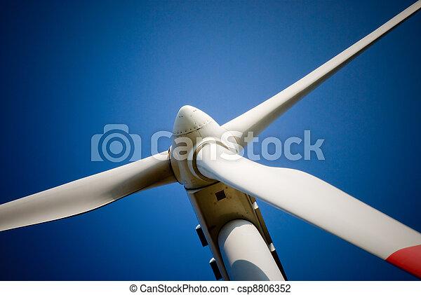 turbina, primer plano, viento - csp8806352