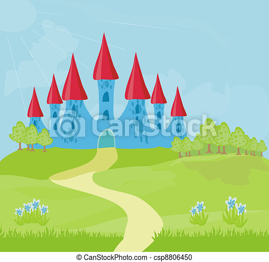 Magic Fairy Tale Princess Castle - csp8806450