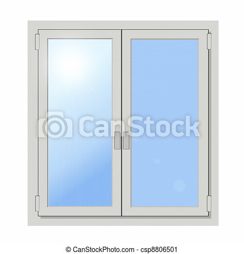 Glass Doors Clipart clipart of plastic double door window isolated on white background