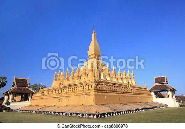 Golden temple architecture in vientienne laos. - csp8806978