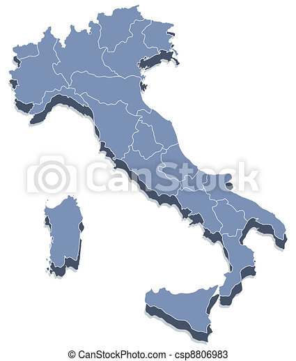 vector map of Italy - csp8806983