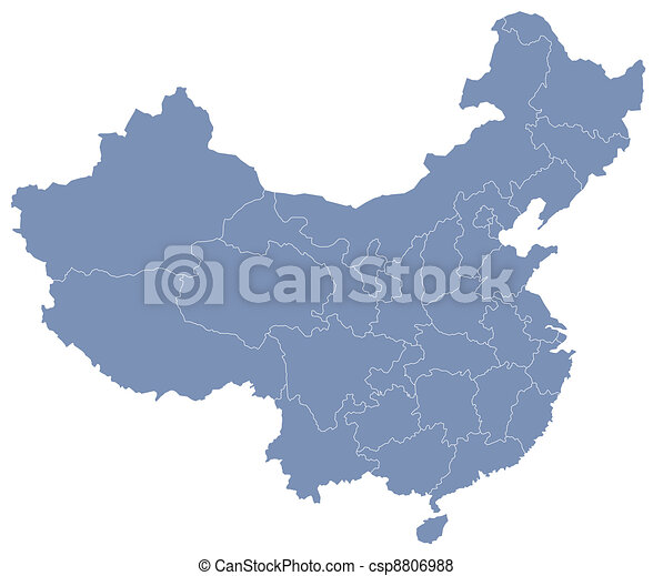 vector map of People's Republic of China (PRC) - csp8806988