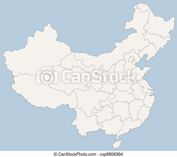 vector map of People's Republic of China (PRC) - csp8806994