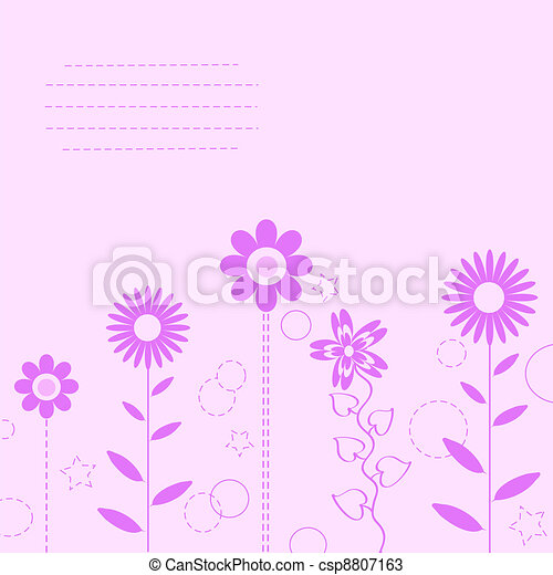 flower background for art projects, - csp8807163