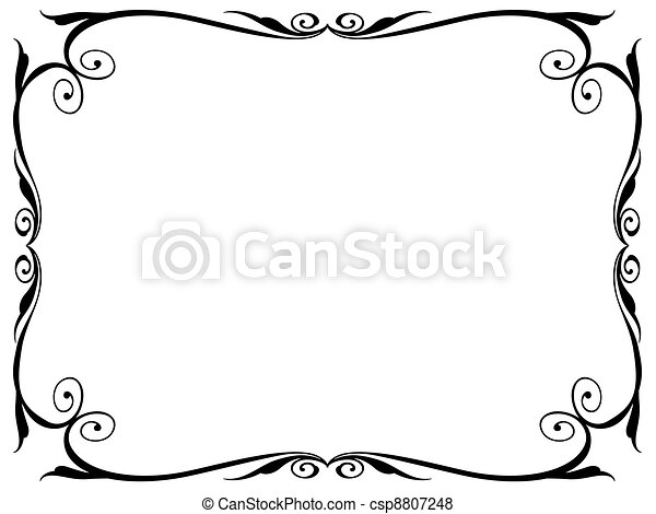 simple ornamental decorative frame - csp8807248