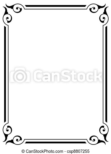 simple ornamental decorative frame - csp8807255