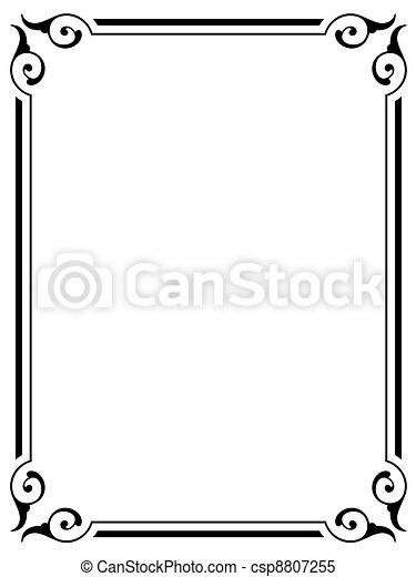 simple ornamental decorative frame - csp8807255