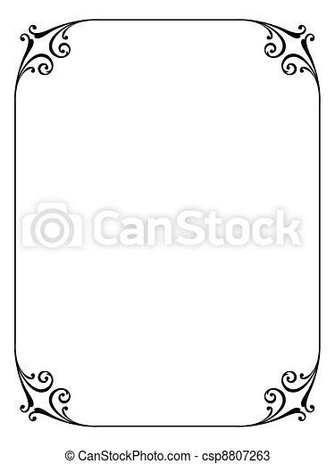 simple ornamental decorative frame - csp8807263