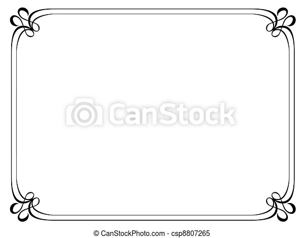simple ornamental decorative frame - csp8807265