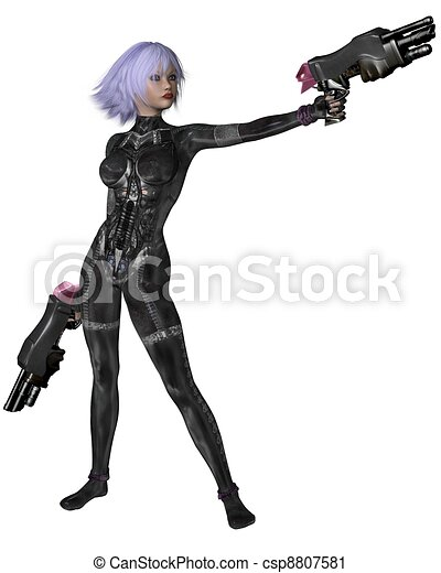 Science Fiction Catsuit Girl Shoots - csp8807581