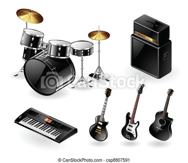 Modern musical instruments - csp8807591